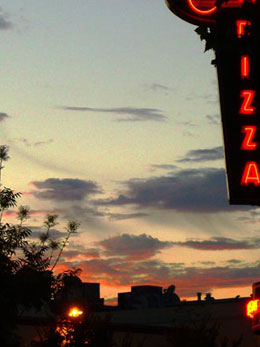 Pizza Sunset, California